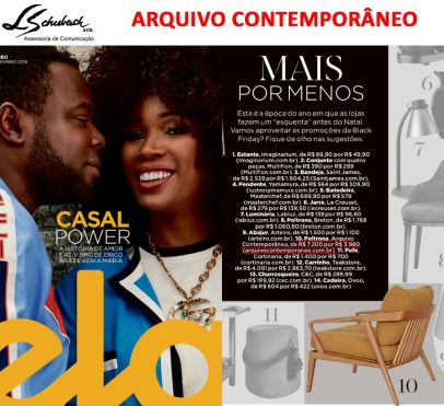 ARQUIVO CONTEMPORÂNEO na Revista Ela do jornal O Globo em 18 de novembro de 2018