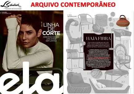 ARQUIVO CONTEMPORÂNEO na Revista Ela do Jornal O Globo em 4 de novembro de 2018