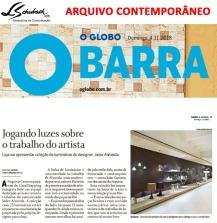 ARQUIVO CONTEMPORÂNEO no caderno Globo Barra do Jornal O Globo em 4 de novembro de 2018
