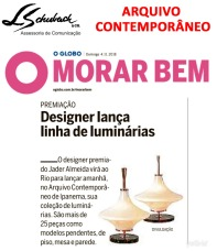 ARQUIVO CONTEMPORÂNEO no caderno Morar Bem do jornal O Globo em 4 de novembro de 2018