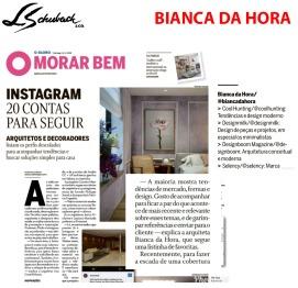 BIANCA DA HORA no caderno MORAR BEM, do jornal O GLOBO, em 18 de novembro de 2018