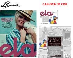 CARIOCA DE COR na revista ELA, do jornal o Globo, em 11 de novembro de 2018