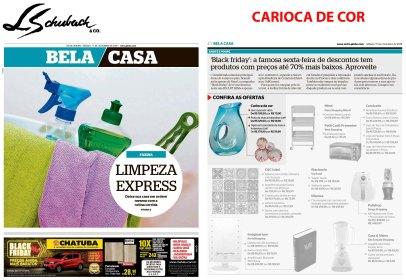 CARIOCA DE COR no caderno Bela Casa, do jornal Extra, em 17 de novembro de 2018