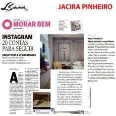 JACIRA PINHEIRO no caderno MORAR BEM, do jornal O GLOBO, em 18 de novembro de 2018