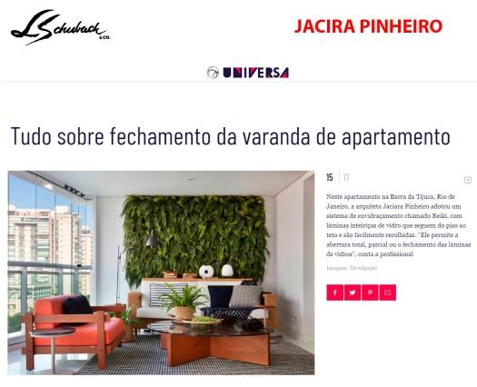 JACIRA PINHEIRO no site UNIVERSA UOL em 23 de novembro de 2018