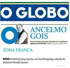 NOVO AMBIENTE na coluna Ancelmo Gois, do jornal O Globo, em 21 de novembro de 2018