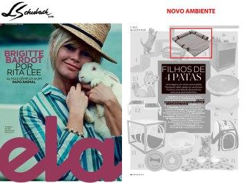 NOVO AMBIENTE na revista ELA, do jornal o Globo, em 11 de novembro de 2018