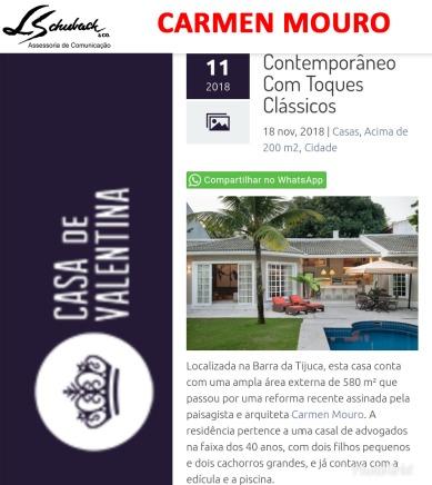 Projeto da paisagista CARMEN MOURO no site Casa de Valentina em 18 de novembro de 2018