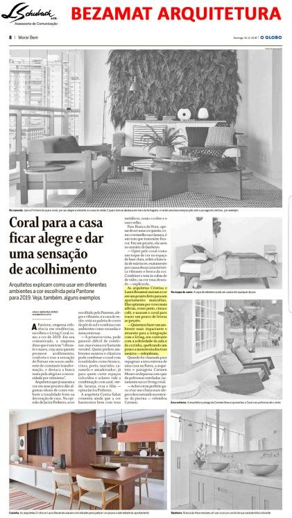 bezamat arquitetura no caderno morar bem do jornal o globo em 16 de dezembro de 2018