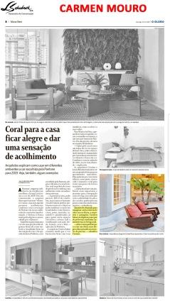 carmen mouro no caderno morar bem do jornal o globo em 16 de dezembro de 2018