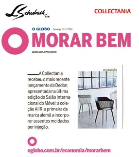 collectania no caderno morar bem, do jornal o globo, em 9 de dezembro de 2018