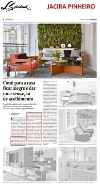 jacira pinheiro no caderno morar bem, do jornal o globo, em 16 de dezembro de 2018