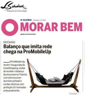 promobile up no caderno morar bem do jornal o globo em 2 de dezembro de 2018