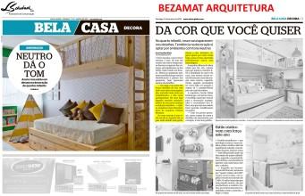 BEZAMAT ARQUITETURA no caderno Bela Casa do jornal Extra em 13 de janeiro de 2019