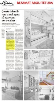 BEZAMAT ARQUITETURA no caderno Morar Bem do jornal O Globo em 13 de janeiro de 2019