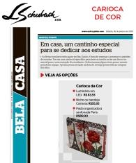 CARIOCA DE COR no caderno BELA CASA, do jornal EXTRA, em 26 de janeiro de 2019