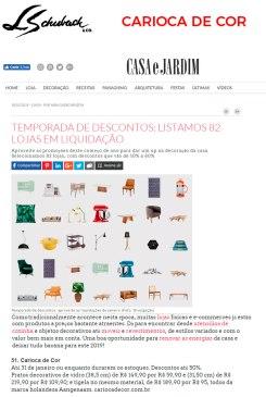 CARIOCA DE COR no site CASA E JARDIM em 18 de janeiro de 2018