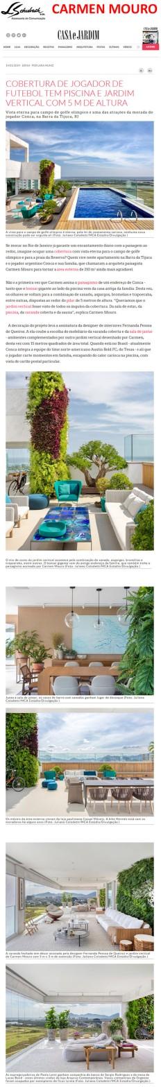 CARMEN MOURO no site da revista Casa e Jardim em 14 de janeiro de 2019