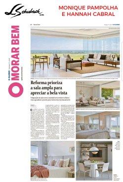 MONIQUE PAMPOLHA E HANNAH CABRAL no caderno MORAR BEM, do jornal O Globo, em 27 de janeiro de 2019