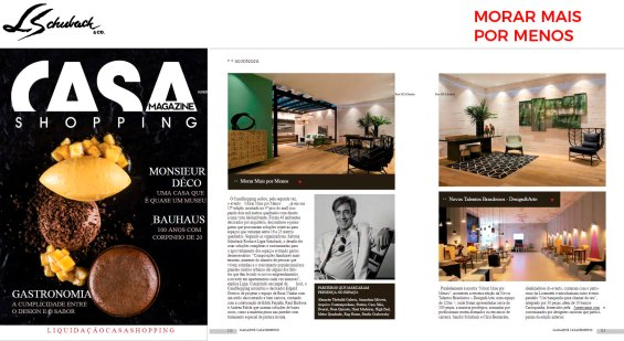 MORAR MAIS POR MENOS RIO na revista Magazine CasaShopping em janeiro de 2019