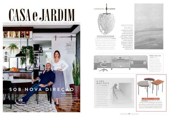 NOVO AMBIENTE na revista CASA E JARDIM de janeiro de 2019