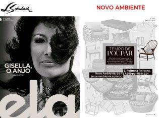NOVO AMBIENTE na revista ELA, do jornal O Globo, em 20 de janeiro de 2019