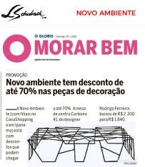 NOVO AMBIENTE no caderno MORAR BEM, do jornal O Globo, em 20 de janeiro de 2019