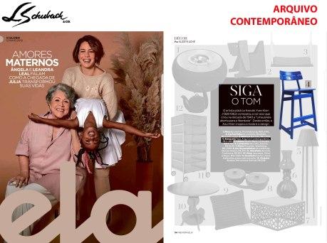 ARQUIVO CONTEMPORÂNEO na REVISTA ELA, do JORNAL O GLOBO, de 12 de maio de 2019