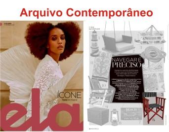 ARQUIVO CONTEMPORÂNEO na REVISTA ELA do jornal O GLOBO de 17 de março de 2019