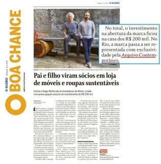 ARQUIVO CONTEMPORÂNEO no BOA CHANCE do jornal O GLOBO de 31 de março de 2019