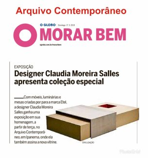 ARQUIVO CONTEMPORÂNEO no MORAR BEM do jornal O GLOBO de 17 de março de 2019