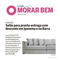 ARQUIVO CONTEMPORÂNEO no MORAR BEM do jornal O GLOBO de 19 de maio de 2019