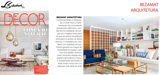 BEZAMAT ARQUITETURA na revista DECOR edição 142