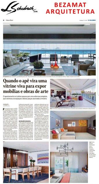 BEZAMAT ARQUITETURA no caderno MORAR BEM, do jornal O GLOBO, em 31 de março de 2019