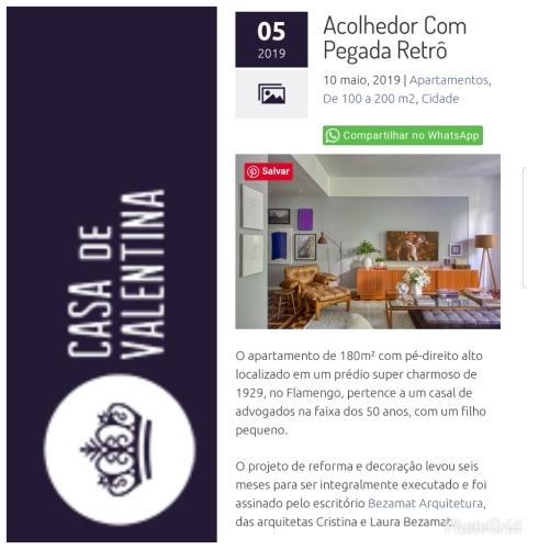 BEZAMAT ARQUITETURA no site CASA DE VALENTINA postado em 10 de maio de 2019