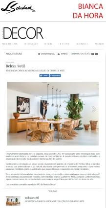 BIANCA DA HORA no site da REVISTA DECOR em 05 de maio de 2019