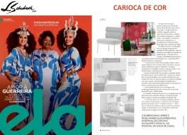 CARIOCA DE COR na revista ELA, do Jornal O Globo, em 3 de março de 2019