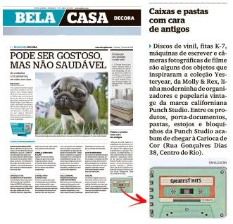 CARIOCA DE COR no caderno Bela Casa, do Jornal EXTRA em 7 de abril de 2019