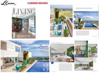 Carmen Mouro na revista LIVING de março de 2019 - completo