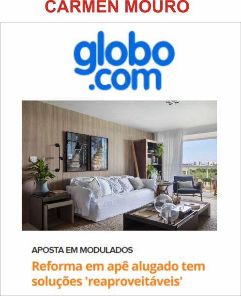 CARMEN MOURO no GLOBO.COM março 2019