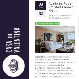 CARMEN MOURO no site CASA DE VALENTINA postado em março de 2019
