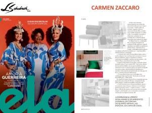 CARMEN ZACCARO na revista ELA, do Jornal O Globo, em 3 de março de 2019