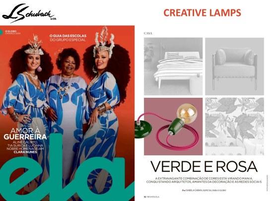 CREATIVE LAMPS na revista ELA, do Jornal O Globo, em 3 de março de 2019 - parte 2