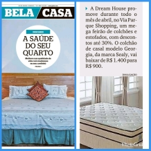 DREAM HOUSE no caderno BELA CASA, do Jornal Extra, em 07 de abril de 2019