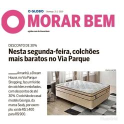 DREAM HOUSE no caderno MORAR BEM, do jornal O Globo, em 31 de março de 2019