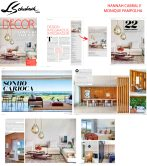HANNAH CABRAL E MONIQUE PAMPOLHA na Revista Decor edição 142