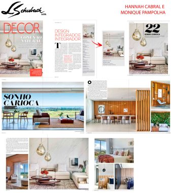 HANNAH CABRAL E MONIQUE PAMPOLHA na Revista Decor edição 142