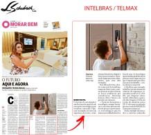 INTELBRAS - TELMAX no caderno MORAR BEM, do JORNAL O GLOBO, de 05 de maio de 2019