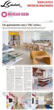 IVAN LEITE E PATRICIA MACHADO no caderno MORAR BEM, do JORNAL O GLOBO, em 19 de maio de 2019