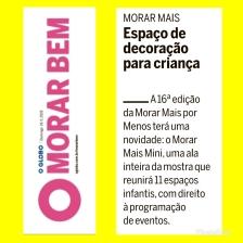 MORAR MAIS RIO no caderno MORAR BEM, do JORNAL O GLOBO, em 19 de maio de 2019